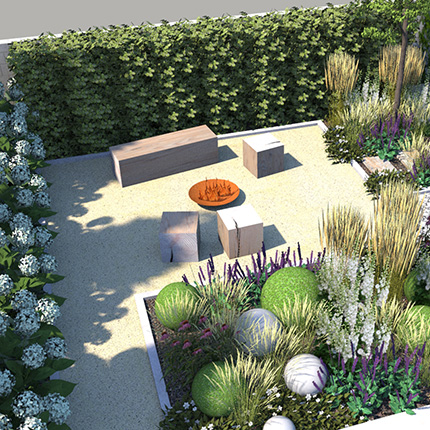 Projekcie a vizualizácie záhrad